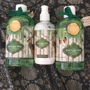 Other - Balsam fir shower gel and lotion set